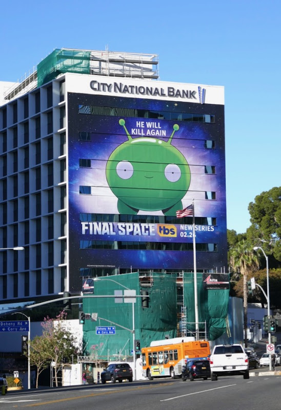 Giant Final Space series launch billboard