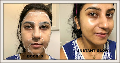 WEARING INNISFREE SKIN CLINIC MASK MADECASSOSIDE SHEET MASK, ANAMIKA BLOGGER NBAM
