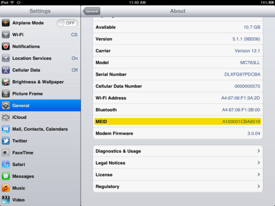 Iphone  Imei Number Location