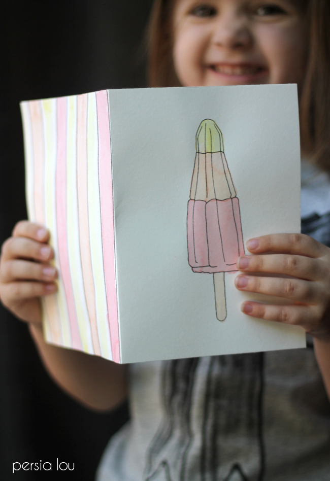 Free Printable Watercoloring Cards on { lilluna.com } Cute and fun and kids will love coloring these!