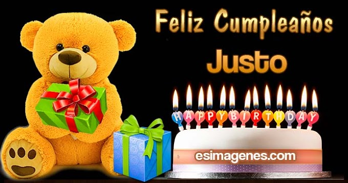 Feliz cumpleaños Justo
