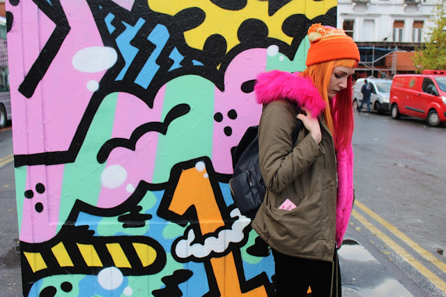 Alternative Blogger Misguided Pink Fur Parka