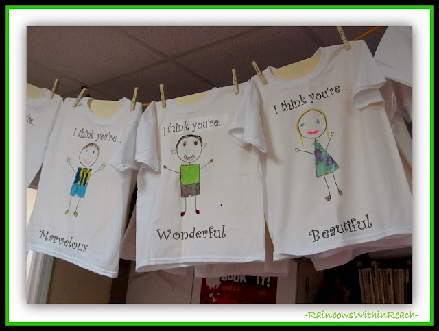"Kindergarten T-shirts Personalized in Response to ""You're Wonderful"" by Debbie Clement"