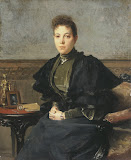Portrait of Vera Kharitonenko by Francois Flameng - Portrait Paintings from Hermitage Museum