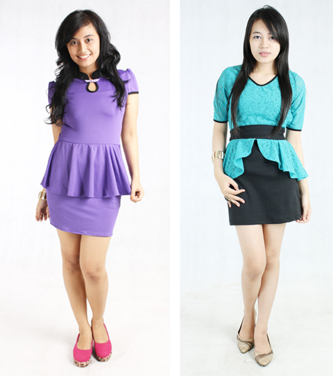 foto model baju peplum
