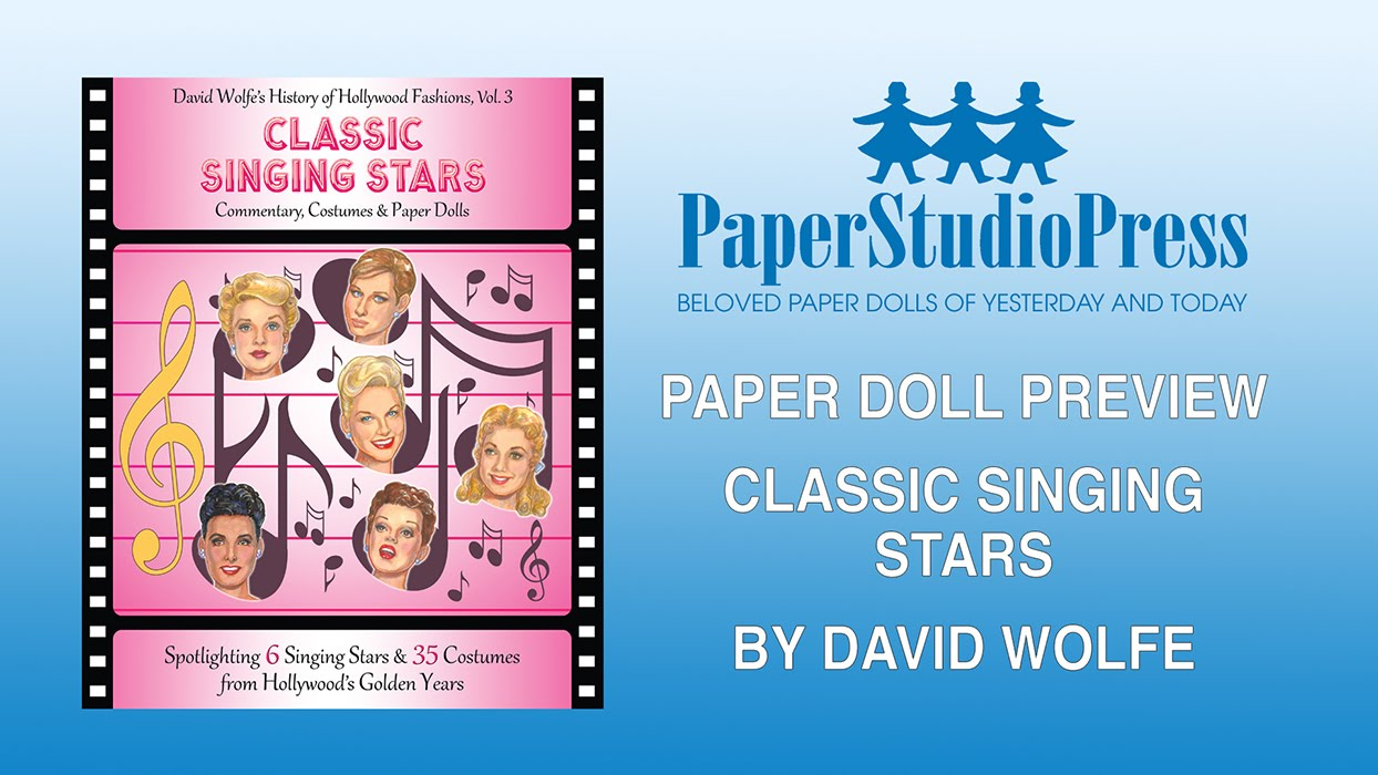 CLASSIC SINGING STARS Paper Doll Book w// 6 Hollywood Stars /& 35 Movie Costumes