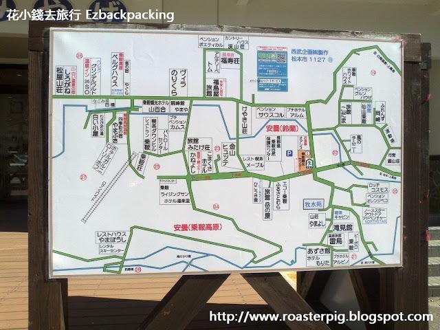 乘鞍高原住宿標示地圖