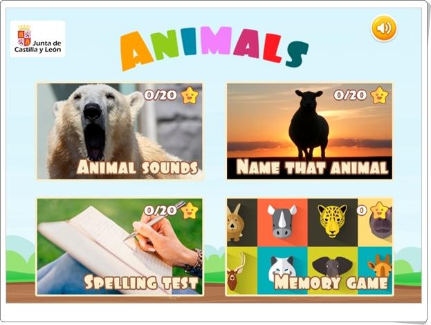 """""""Animals"""" (Juegos en inglés sobre animales)"""