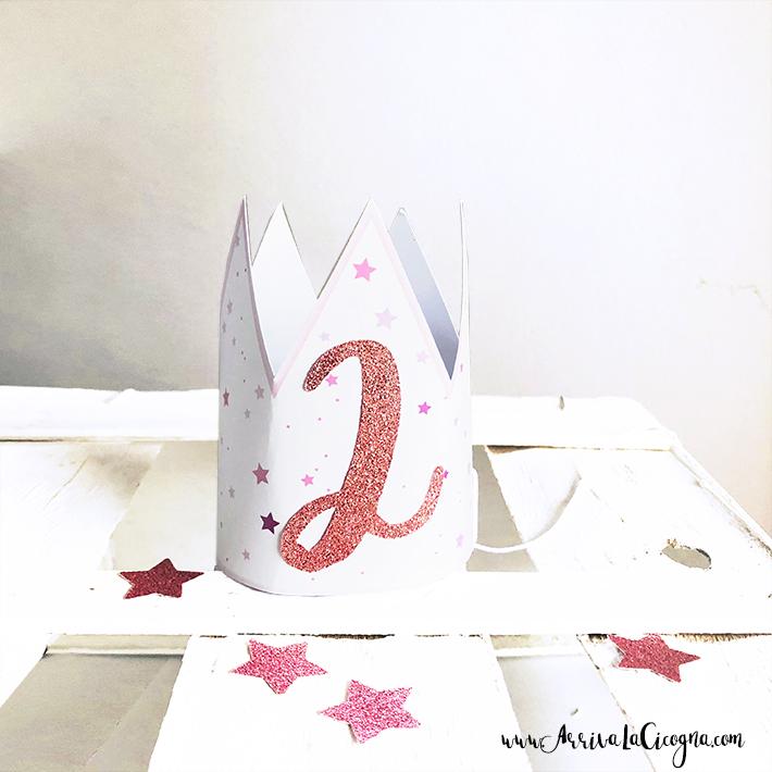 mini coroncina in cartoncino a tema Ballerina