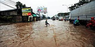 Banjir Kepung Kota Bandung,Ini Penyebabnya