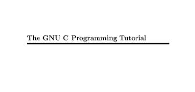 GNU C Programming Tutorials in PDF Free Download