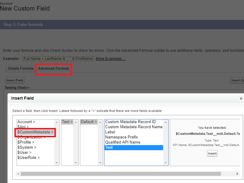 Infallible Techie: How to refer Custom Metadata Types in