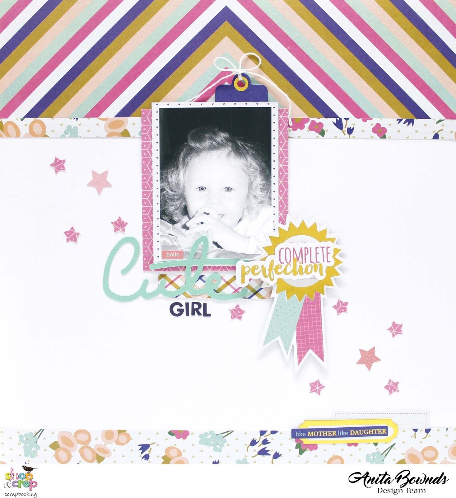 Cute girl layout