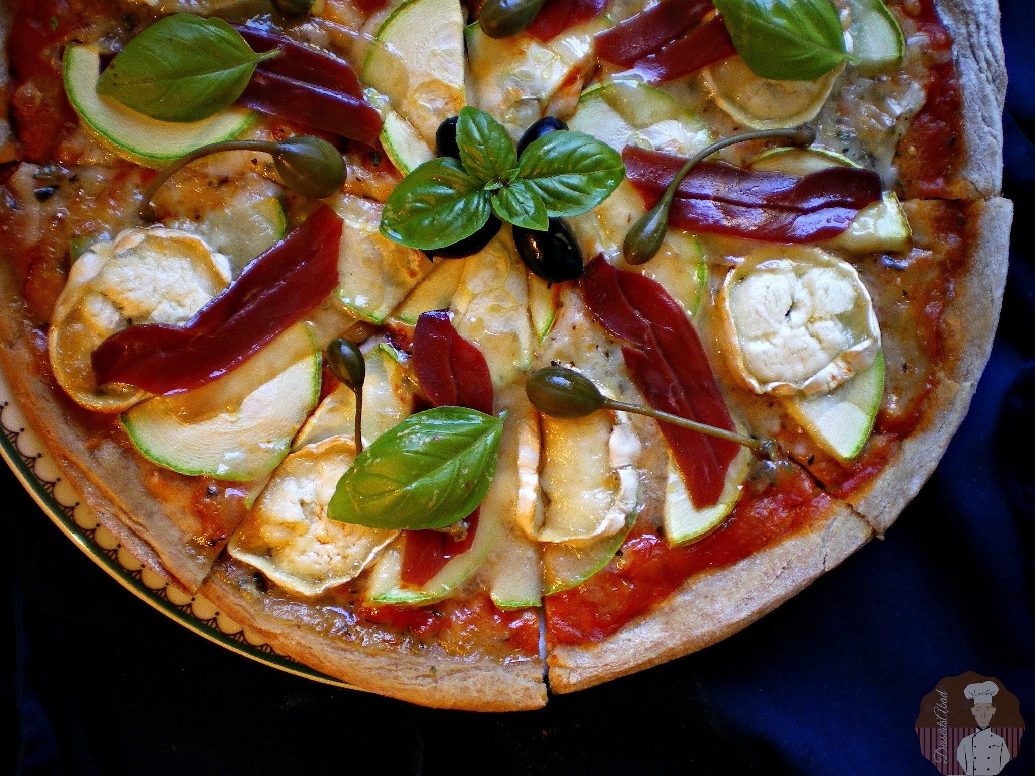 Pizza caprina integral