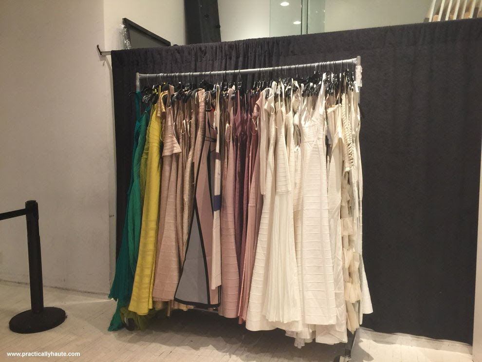 Herve Leger sample sale long gowns
