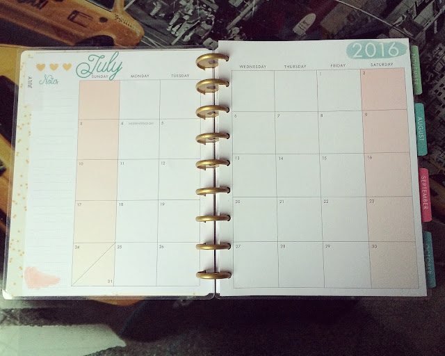 happy planner hello life july monthly view