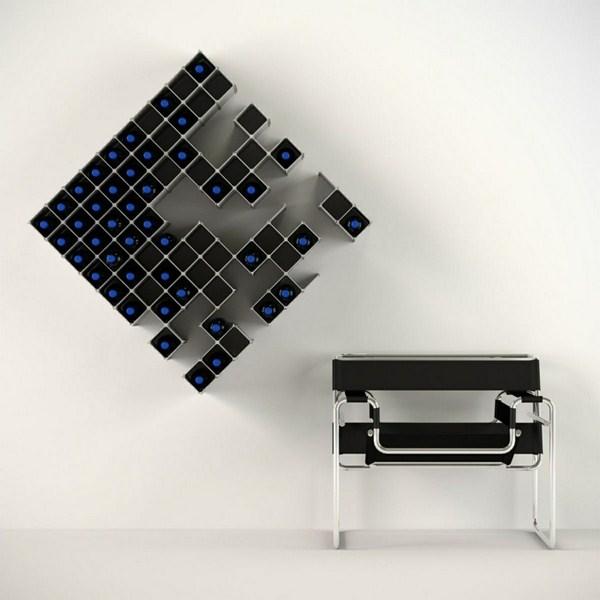 Wine Store Wanddeko Checkered Inspiration Steel Shelf