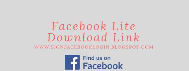 Facebook Lite Download Link
