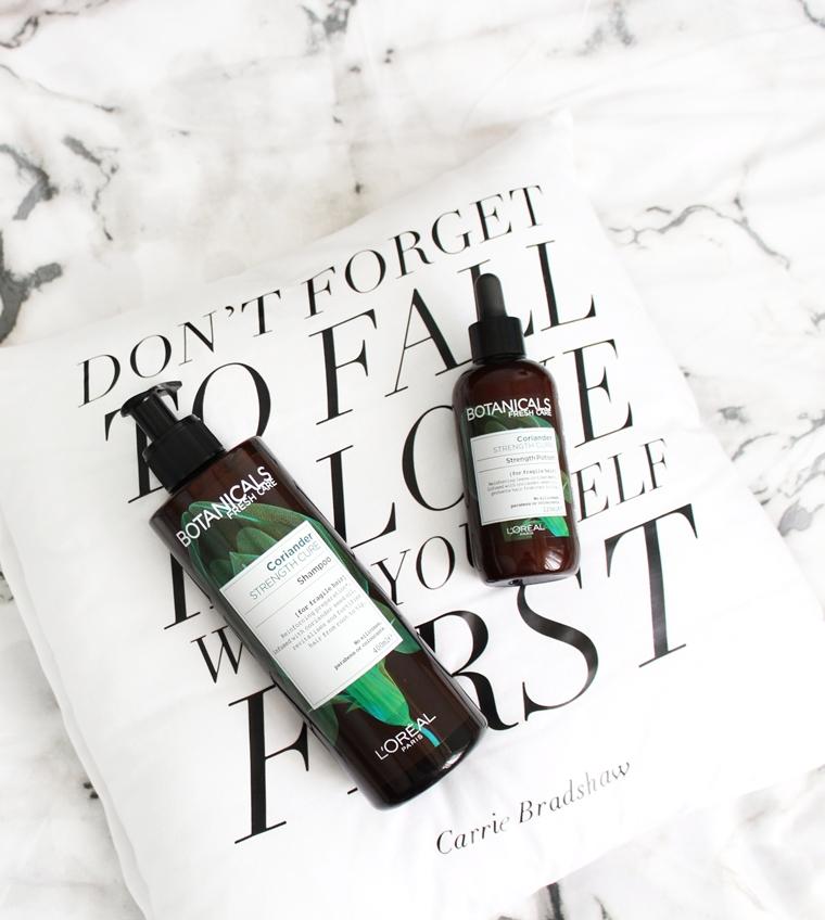 Nowości w mojej kosmetyczce Botanicals Fresh Care Coriander szampon + eliksir wzmacniający z kolendrą