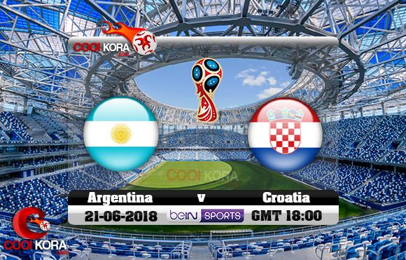 مشاهدة مباراة الأرجنتين وكرواتيا اليوم 21-6-2018 بي أن ماكس كأس العالم 2018