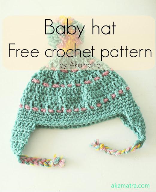 Crochet baby hat - Free pattern