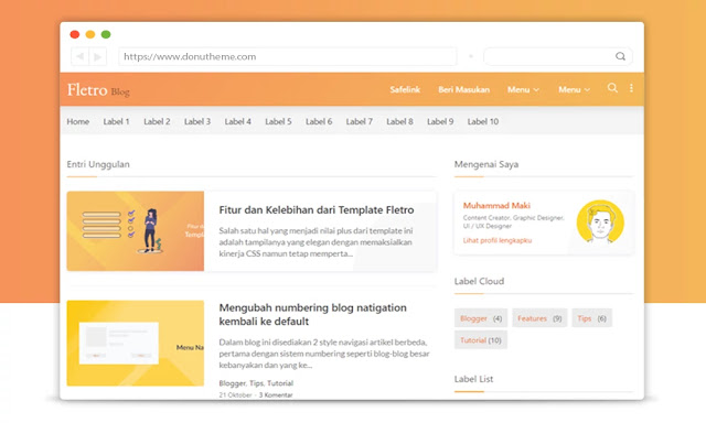 Fletro Lite V5 Responsive Blogger Template