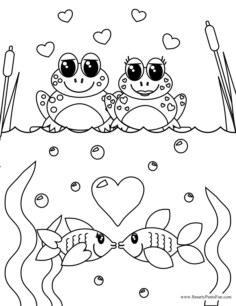 Dynamic image throughout printable valentines coloring pages