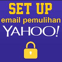 setup email pemulihan yahoo