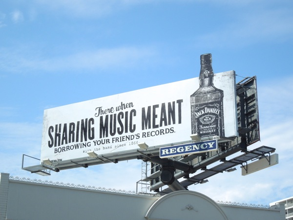 Jack Daniel's Whiskey special extension billboard