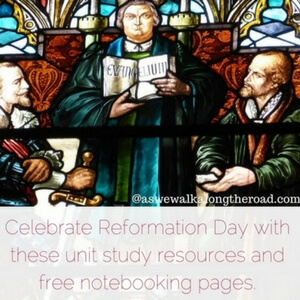 Reformation Day Unit Study