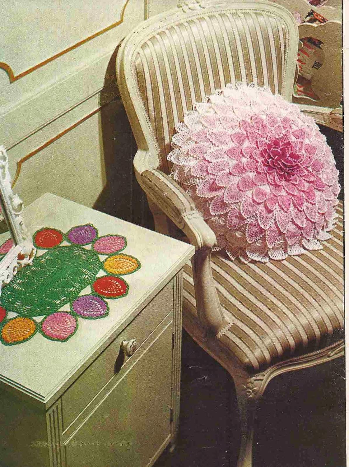 Cojín y Tapete a Crochet