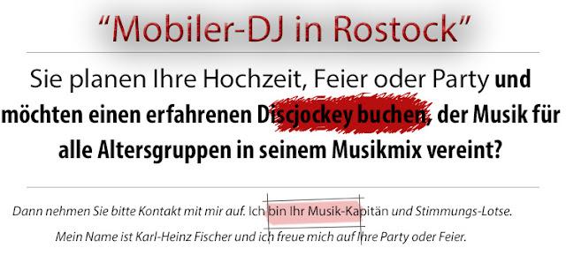 DJ Warnemünde - Hochzeit DJ Rostock - Mobile Diskothek