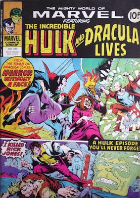 Mighty World of Marvel #249, Hulk and Dracula Lives