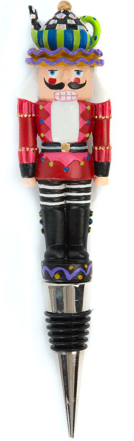 MACKENZIE-CHILDS TEA TIME NUTCRACKER BOTTLE STOPPER