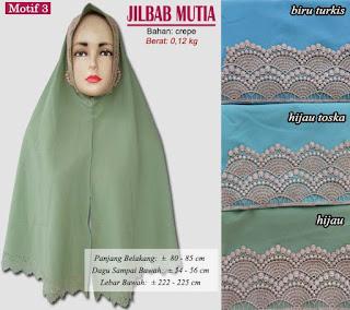 Jilbab cutting plus renda model baru - mutia motif 3