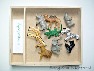Montessori-inspired Animals of Africa: Object Tray