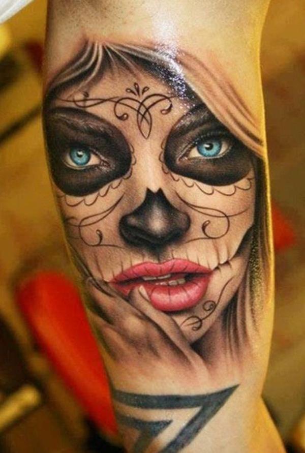Tatuaje de Catrina sexi