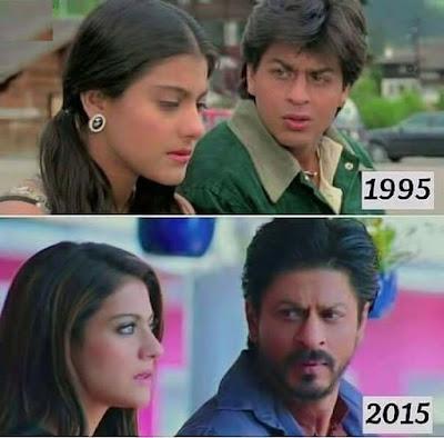 Shahrukh Khan Then VS Now Images