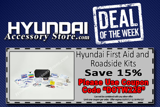 Hyundai Accessory Store Deal of the Week 02/28/17 - 03/07/17