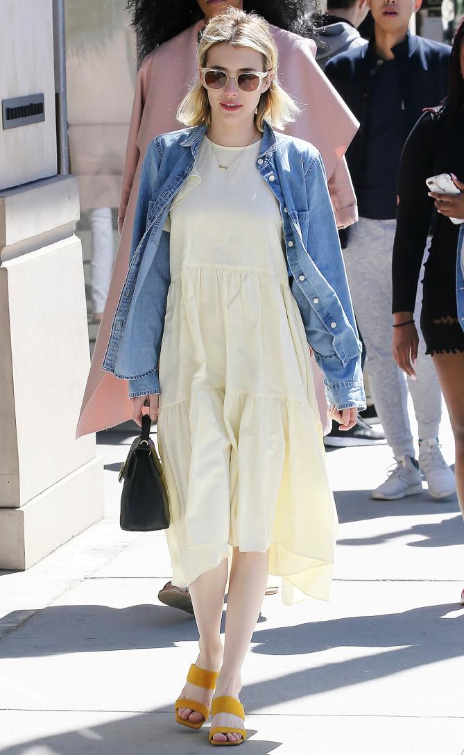 Func Shoe Nality Celebrity Shoes Emma Roberts Wears Nine West Sandals