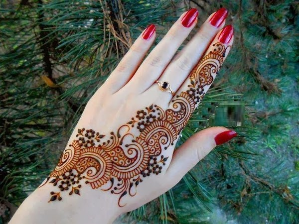 Pretty Simple Henna Designs: Beautiful But Simple Mehndi Design 2014 For Girls
