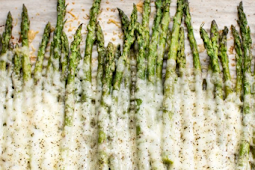 Dinner Recipes Date Night | Cheesy Garlic Roasted Asparagus