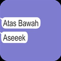 Text Gaul : Atas-Bawah (Animated)
