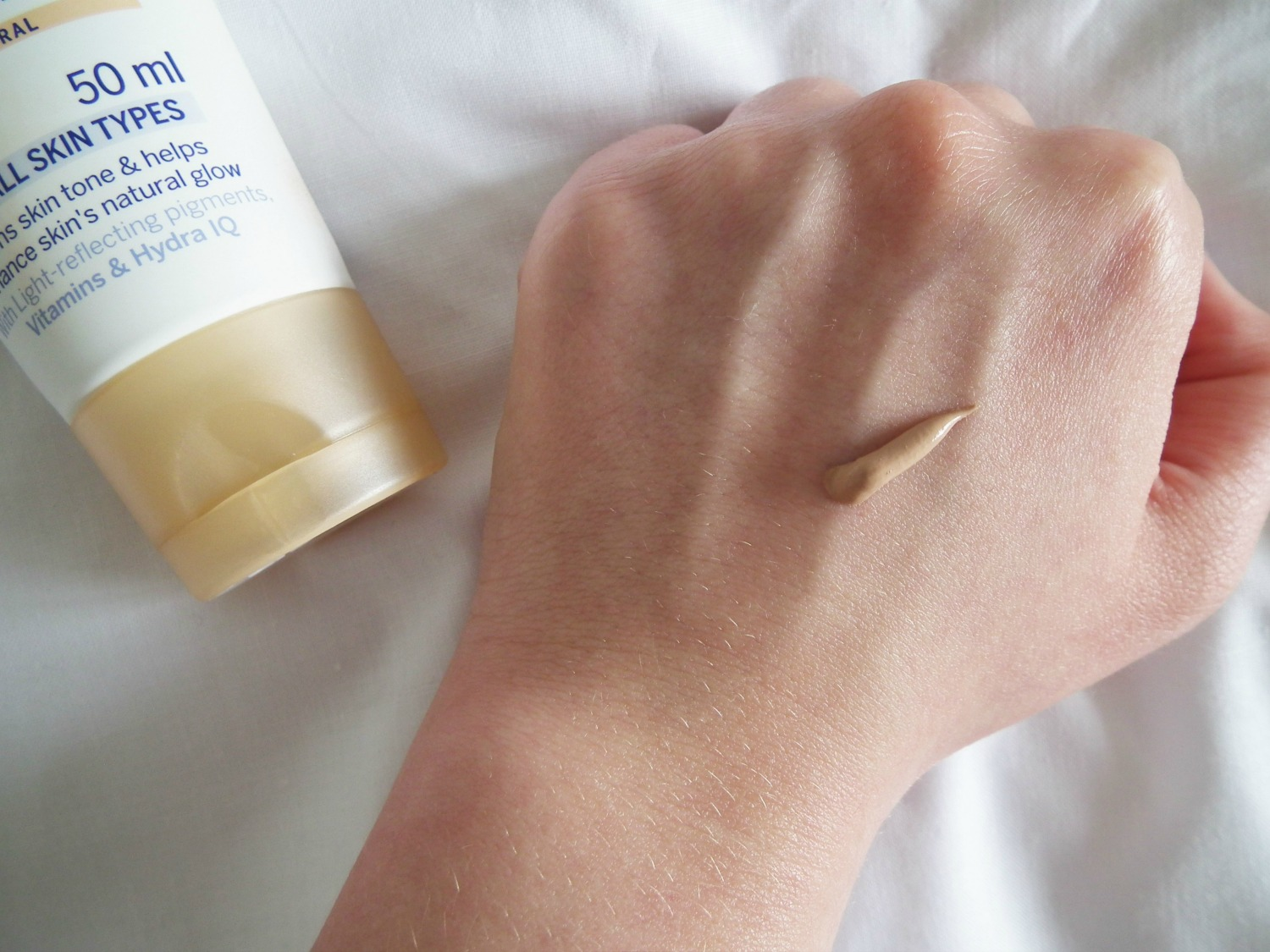 Products I've Loved This Month Nivea Day Cream Tinted Moisturiser Swatch