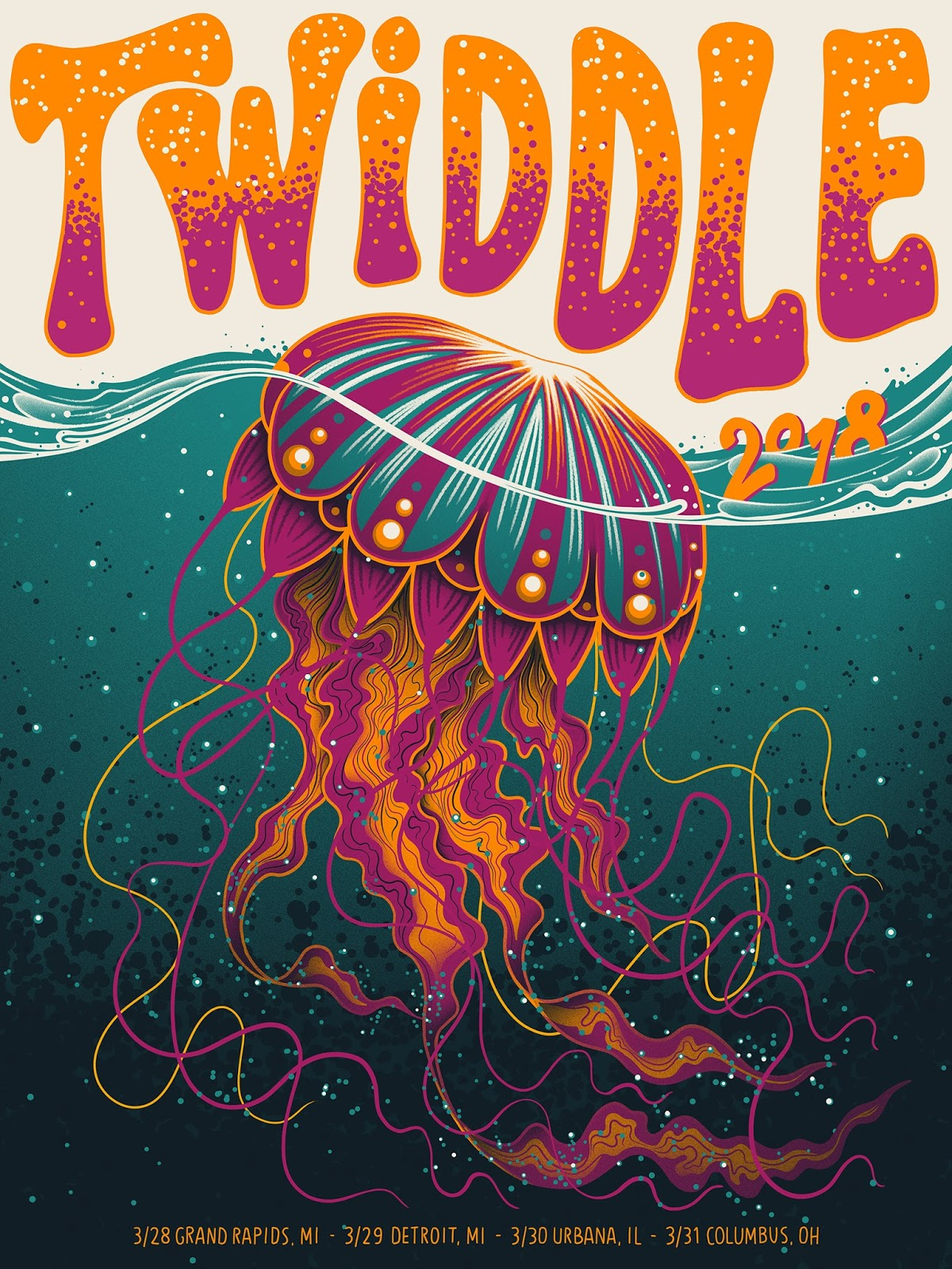 Arno kiss twiddle midwest tour poster release