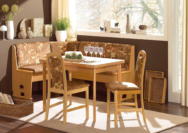 superb breakfast nook ideas with l shaped light wood kitchen nook and simple dining table