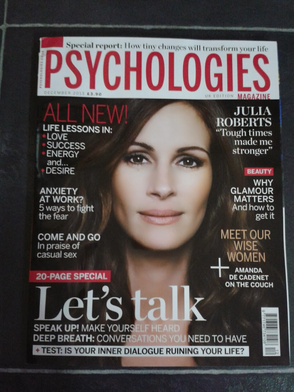 Review:  Psychologies Magazine – December Issue 2013