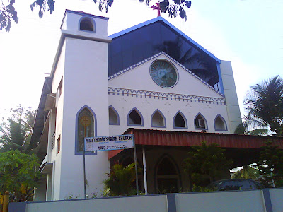 Mar Thoma Syrian Church is located in front of the YMCA behind Athena Hospital on Falnir Road