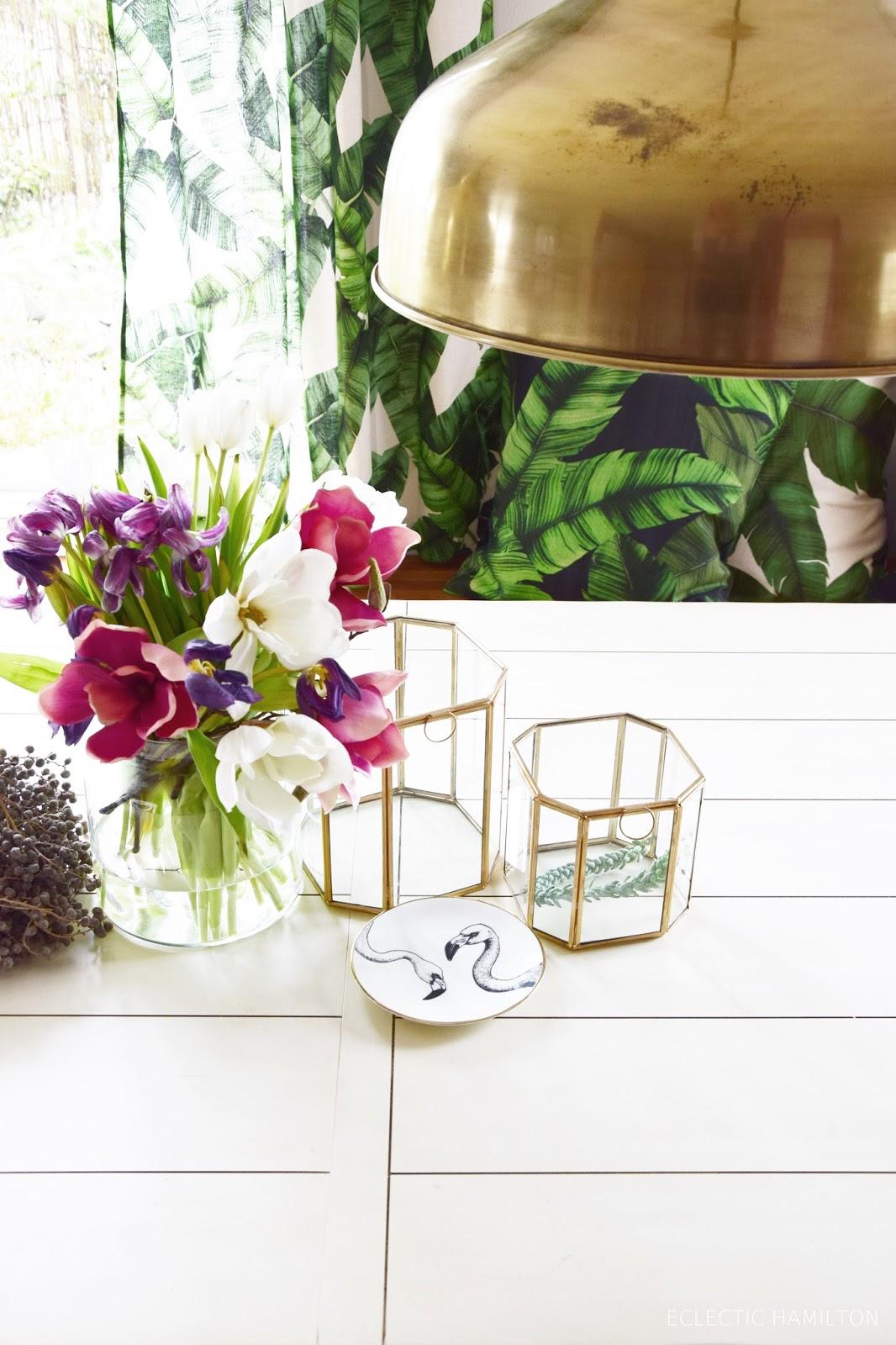 dschungelfieber von der tischdecke zum vorhang ganz ohne n hen eclectic hamilton. Black Bedroom Furniture Sets. Home Design Ideas
