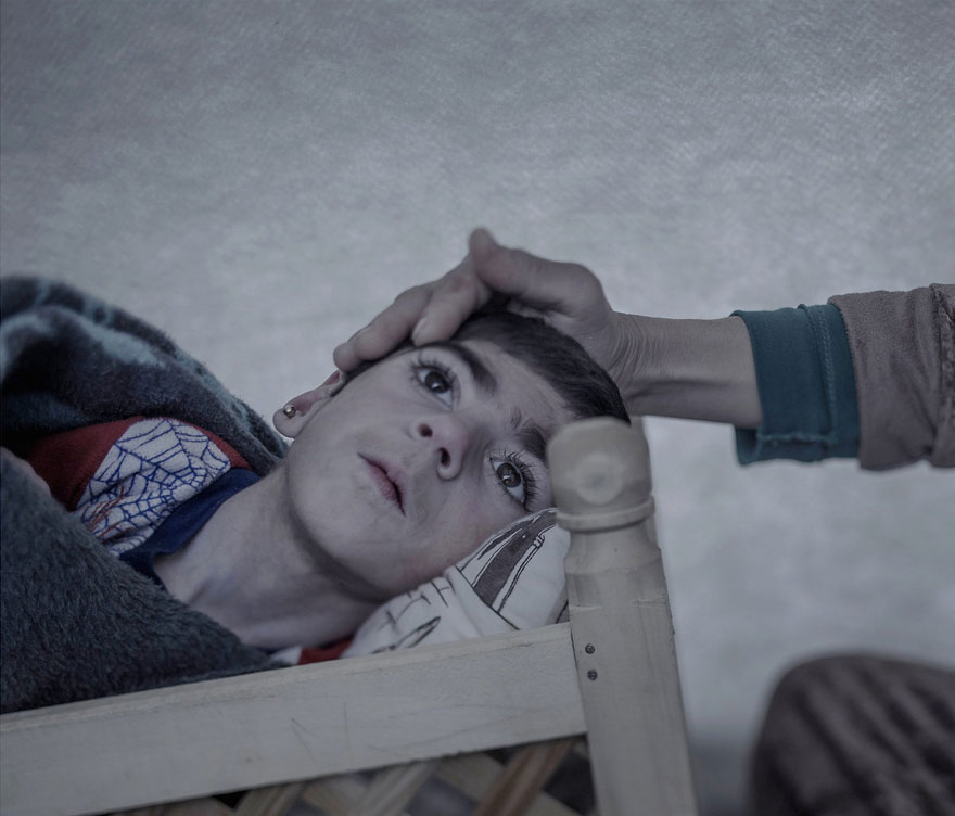 Photographer Reveals The Heartbreaking Places Syrian Refugee Children Sleep - Shiraz, 9 years old, Suruc